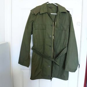 Army green re new vintage jacket